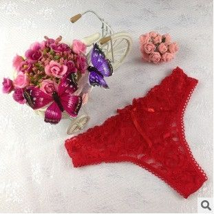 Free Shipping Hot Sale 2016 G String Cotton Womens Sexy Lace Thong Panties women's panties female underwear