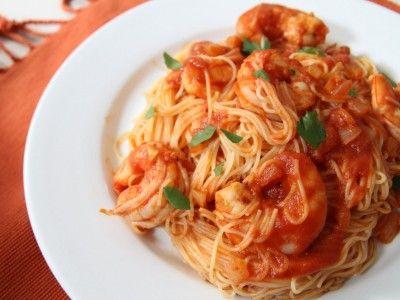 Shrimp and Angel Hair Fra Diavolo