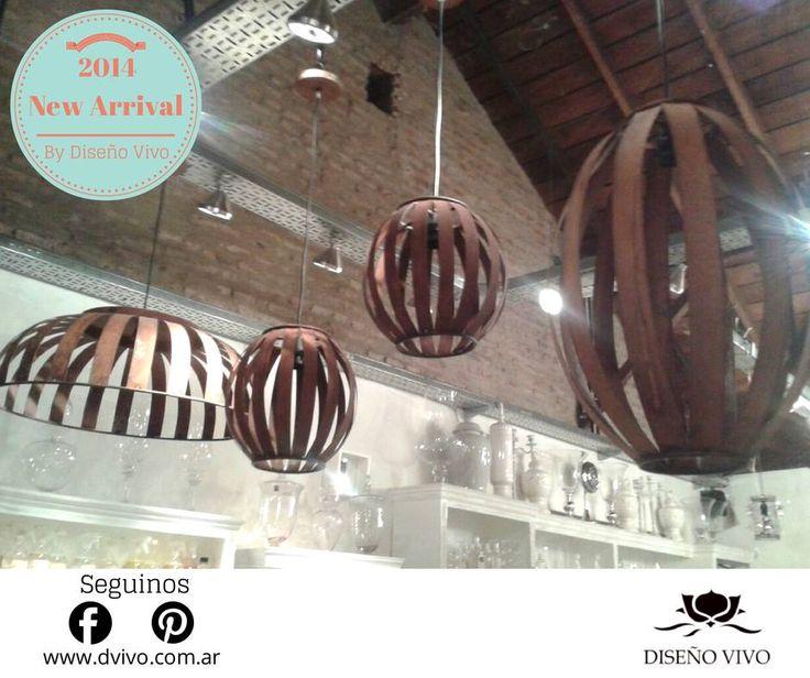 Lamparas colgantes en hierro oxidado. Ideales para quinchos, galerías o decorar un rincón del living.  Diseño Vivo