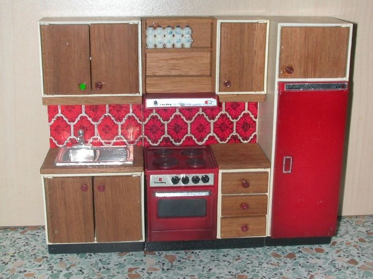 Lundby Puppenhaus dolls house kitchen items Küchenzeile