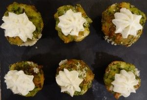 Spinach, Sundried tomato and feta muffin with cream cheese swirl