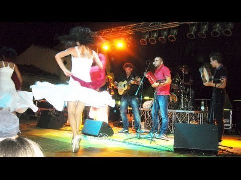 "ZIMBARIA - popular #TARANTA #Pizzica band from #Salento - with their ballerina perform the famous song ""La Zitella"" (also known as ""L'acqua de la funtana""). Click on the pic and WATCH ZIMBARIA ! More info: www.trio-amigos.com"