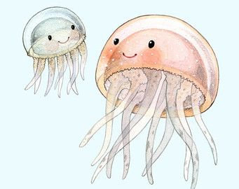 Abc Animals Jellyfish Print Jellyfish Painting