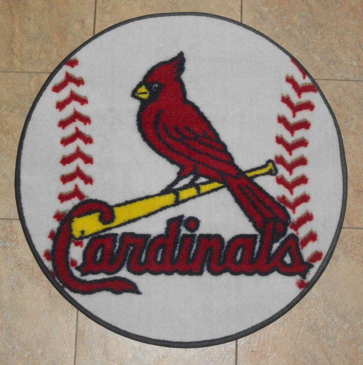 Home Decor St Louis Mo: St Louis Cardinals MLB Baseball 26 Inch Round Floor Mat