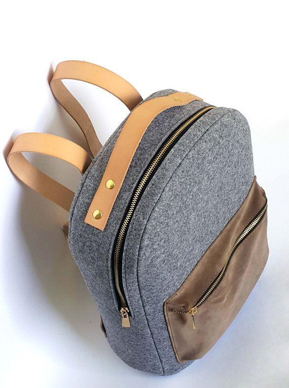 LEATHER 13.3 MACBOOK BACKPACK felt laptop bag rucksack от FUTERAL
