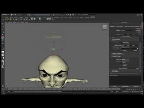 Rig personaggio 3D Maya - Eye Setup - face GUI - YouTube