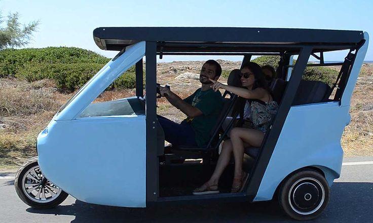 SOLAR - PEDAL MOVING VEHICLE. Οραματιστήκαμε ένα αυτόνομο όχημα, που παράγει την ενέργεια που καταναλώνει, που χρησιμοποιεί το ήλιο και κάνει τους επιβάτες ενεργούς στην κίνησή του, μία εναλλακτική μετακίνηση και άθληση.
