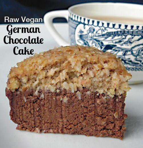 Raw Vegan German Chocolate Cake from Practically Raw Desserts by Amber Shea Crawley