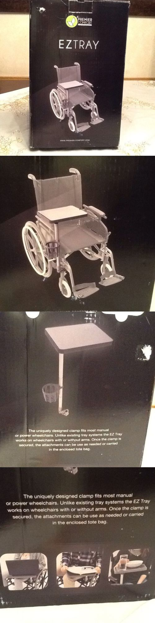 Mobility Scooter Parts: Comfort Company Ez Tray Wheelchair Tray System Easy Install Nib BUY IT NOW ONLY: $79.0