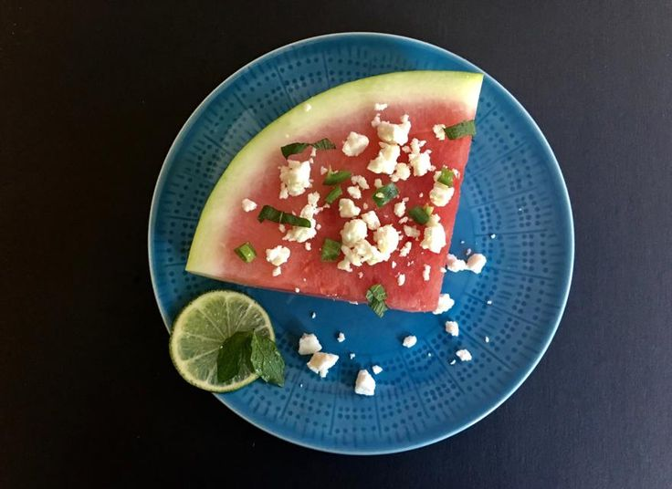 Put away that melon baller and use watermelon wedges for an easy, elegant summer salad. CONTRIBUTED BY KELLIE HYNES