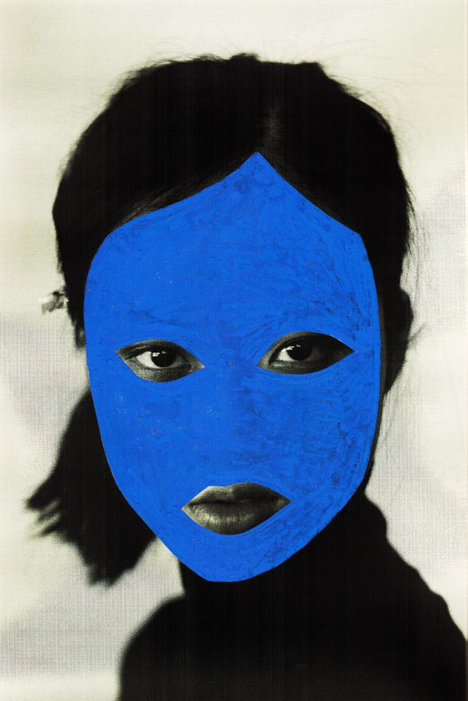 joe cruz- painting intricate masks on top of faces. Hiding and expressing