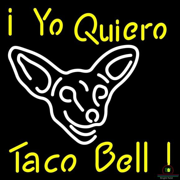 I Yo Quiero Taco Bell Neon Sign Real Neon Light