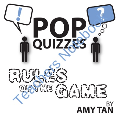 rules game amy tan essays Author: amy tan amy tan is the author of the rules of the game this story is not true but it is inspired in amy tan's relationship with her mother.