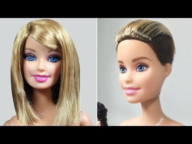 Barbie Doll Hairstyles Barbie Haircut Tutorial Celebrity Hairstyles Doll Hair Barbie Doll Hairstyles Barbie Hairstyle