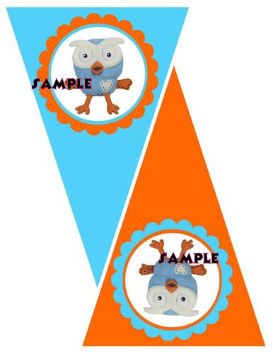 Hootabelle OR Giggle AND Hoot Party Bunting Banner | eBay