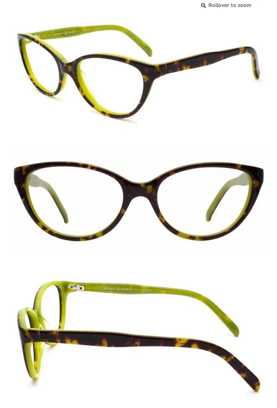 "Lentes de Aumento estilo ""Cat Eye""."