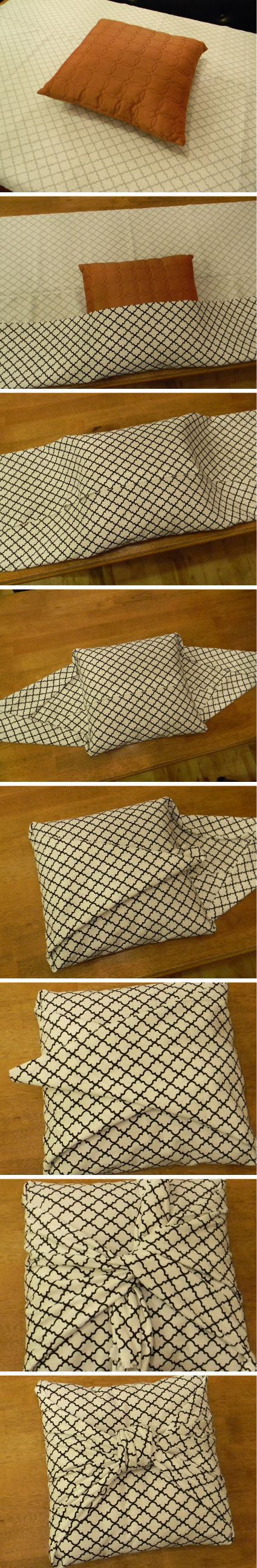 DIY no sew cushion covers