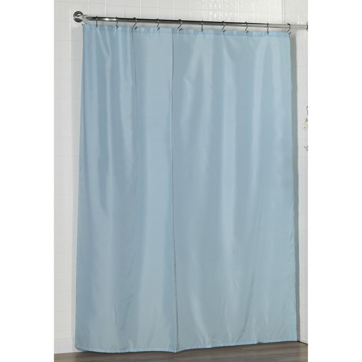 Carnation Home Fashions Fabric Shower Curtain Liner with Weighted Bottom Hem - SC-FAB/42