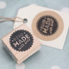 Ebay | 'Hand made with love' / cheap crafty items / East of India 'Hand Made With Love' Wodden Rubber Stamp - Craft