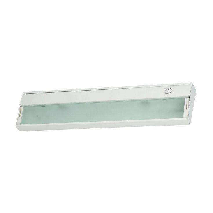 Titan Lighting Zeeline 2-Lamp Xenon White Under Cabinet Light with Diffused Glass