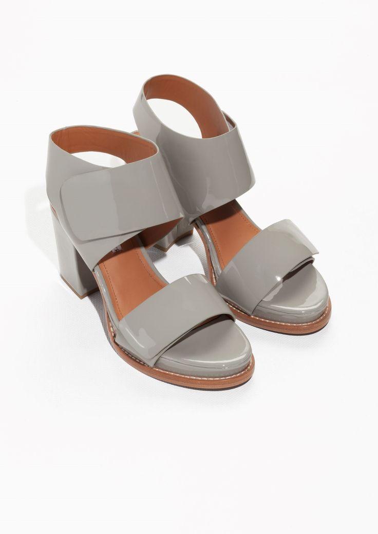 & Other Stories   Block Heel Patent Sandals
