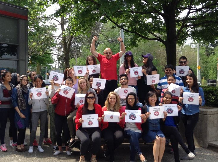 Go Raptors Go! From students, faculty and staff at The Canadian Academy of Dental Health & Community Science