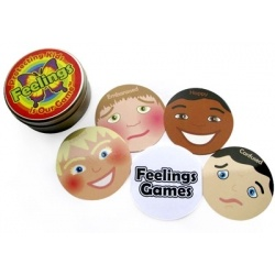 These fun multi-cultural Feelings Cards will help increase children's feelings vocabulary. Each tin contains the definitions of 30 feelings, and instructions for 10 games which can be played with the cards.