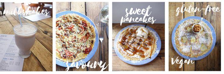 An amazing variety of pancakes, milkshakes and more at Double Dutch Pancake House.  #pancakes #York #wheretoeatinYork #sweetpancakes #savourypancakes #milkshakes #Dutchpancakes