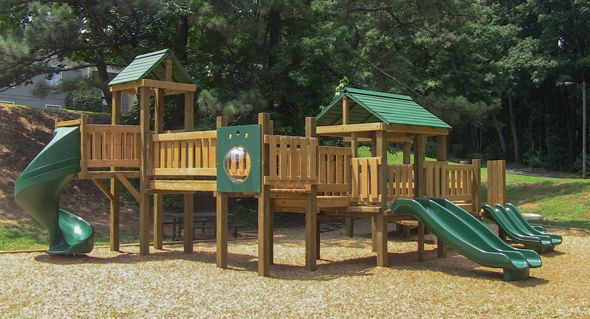 Wooden Commercial Playground Equipment Google Search