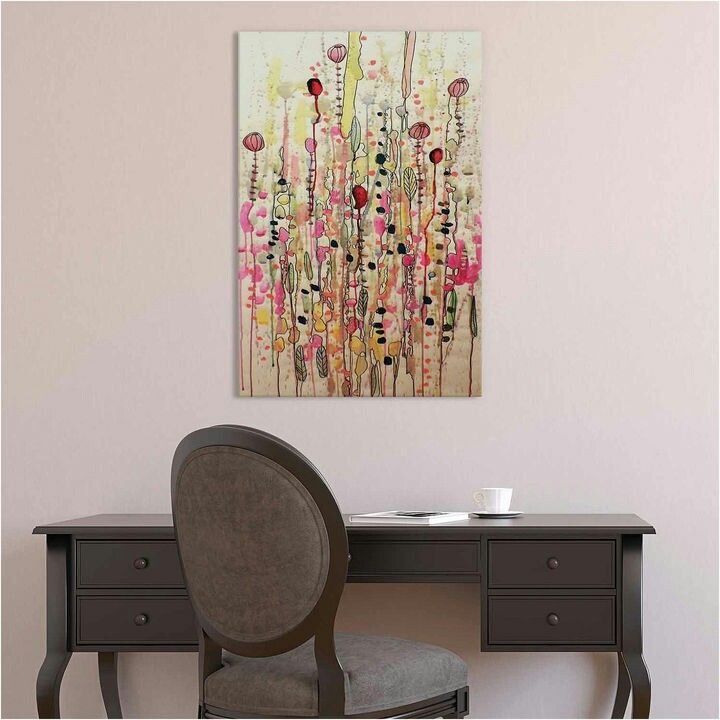 Lovely art print! I can just hear the insects buzzing around in this summer feeling abstract watercolor.