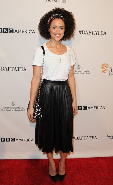 Nathalie Emmanuel Photos Photos - Actress Nathalie Emmanuel attends the BAFTA Los Angeles Awards Season Tea at Four Seasons Hotel Los Angeles at Beverly Hills on January 9, 2016 in Los Angeles, California. - BAFTA Los Angeles Awards Season Tea - Arrivals