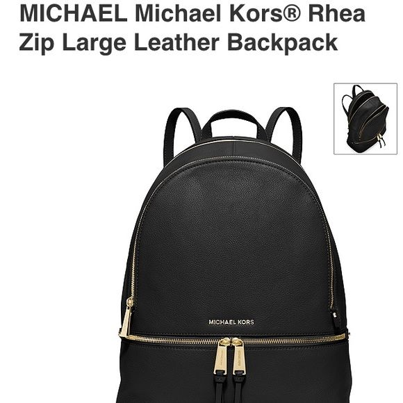 Michael Kors Backpack,SALE TODAY Michael Kors Black leather backpack with dust bag MICHAEL Michael Kors Bags Backpacks
