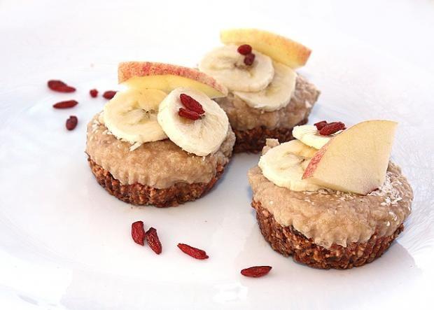 Raw goji jablkové košíčky, Zdravé recepty, Nepečené zákusky, recept | Naničmama.sk