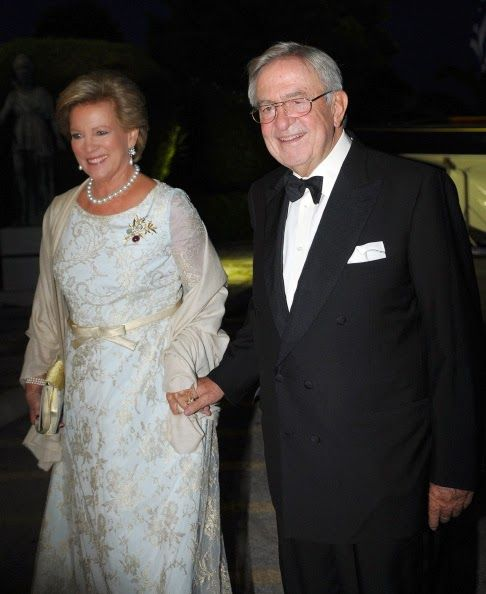 (L-R) Former Queen Anne-Marie of Greece and Former King Constantine II of Greece