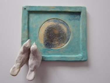 Handmade pottery Candle/Insence Holder (Wedding Gift) (Code 9019.10)