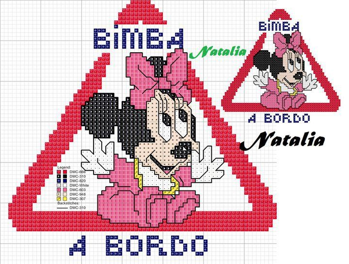 minnie bimba a bordo