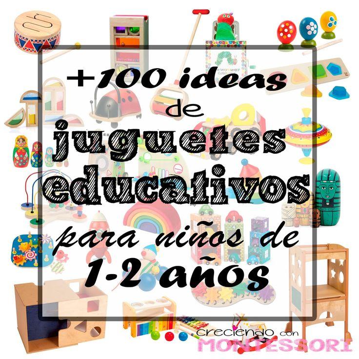 Más de 100 ideas de Juguetes Educativos para niños de 1-2 años (Montessori…