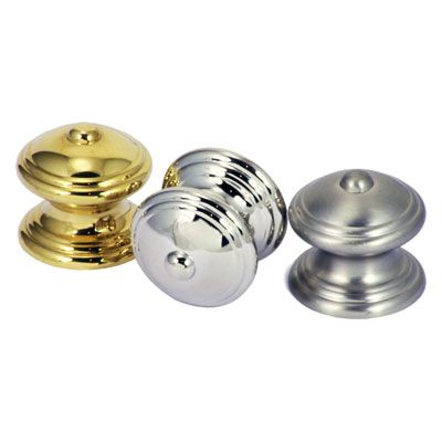 B & M Classic cupboard knob available in polished brass, polished and satin nickel. #architecturalhardware #buildingdesign #knob #cabinetknob #homedesogn #interiordesign