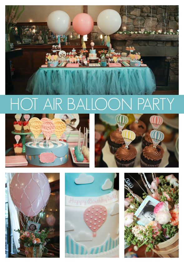Get carried away with this amazing Hot Air Balloon Party. See the full feature on www.prettymyparty.com.