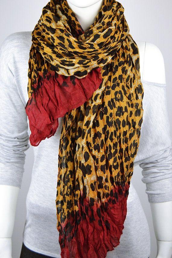 BUY 1 & GET 1 FREE Leopard Print Scarf Leopard by LIFEPARTNER, $15.30