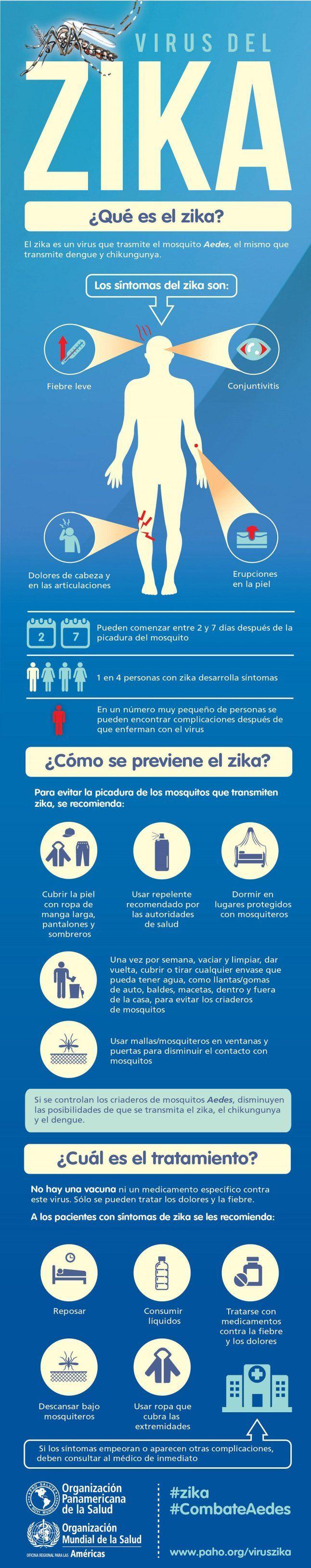 Virus del Zika #infografia #infographic #health