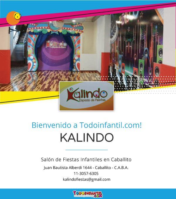 """#BIENVENIDO """" Kalindo - Salón de Fiestas Infantiles en Caballito!"""" a Todoinfantil.com https://www.todoinfantil.com/fiestas-infantiles/ficha/kalindo"""