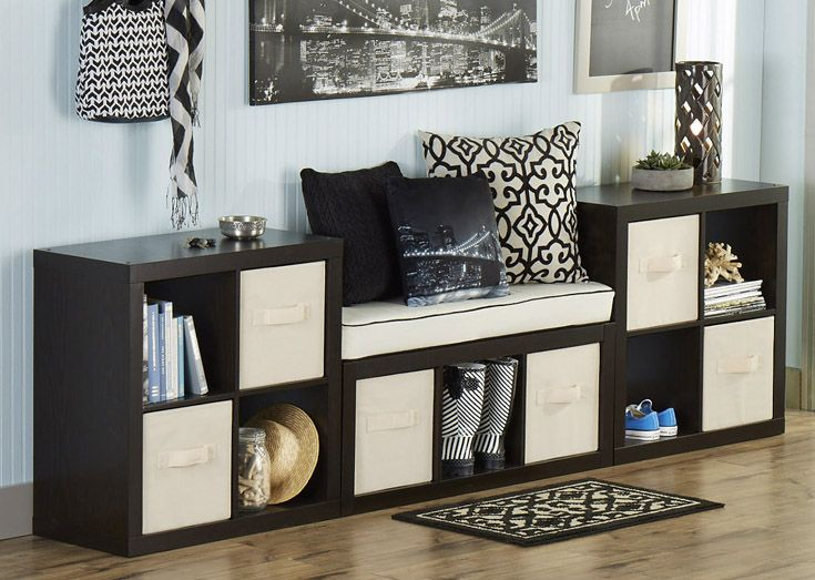 If you're building an entry way on a budget, our cube organizers and home decor can be combined to create a lasting impression with any visitor.