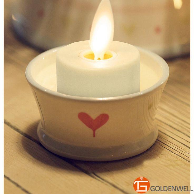 "Encontrar Más Velas Información acerca de 2 "" Set de té 6 LED velas sin llama con temporizador y cargador, alta calidad té velas de luz de la batería, China vela rosa Proveedores, barato té de Goldenwell Smart Home en Aliexpress.com"