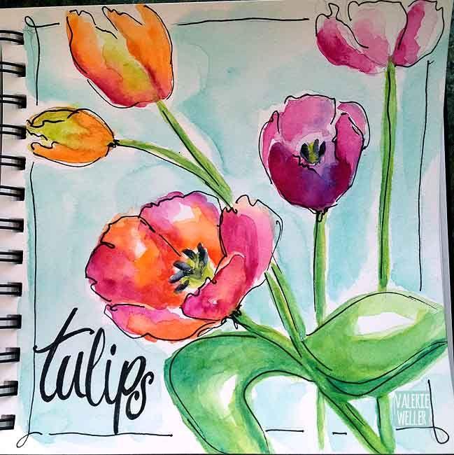 watercolor sketching in the journalbook…valerieweller