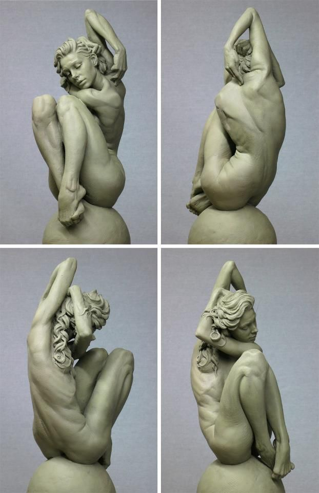 "Eric Michael Wilson Liked · February 8 ""Eve"" by Eric Michael Wilson. This is my newest work and a companion piece to my Adam. The sculpture is 1/3 scale in Roma clay and will be cast in bronze as a limited edition."