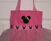 Pink Minnie Mouse Mini Tutu Tote Bag