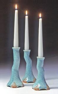 ceramic candle holders.