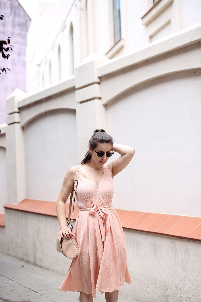 Peach summer dress