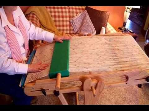 Weavers Rapid Warp Loom - YouTube
